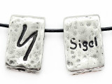 "Runestone Astrology Pewter Pendant - ""Sigel"" - February (PWR16)"