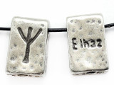 "Runestone Astrology Pewter Pendant - ""Elhaz"" - January/February (PWR15)"