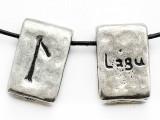 "Runestone Astrology Pewter Pendant - ""Lagu"" - April/May (PWR21)"