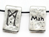 "Runestone Astrology Pewter Pendant - ""Man"" - April (PWR20)"