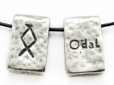 "Runestone Astrology Pewter Pendant - ""Odal"" - May/June (PWR23)"