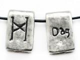 "Runestone Astrology Pewter Pendant - ""Dag"" - June (PWR24)"