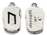 "Runestone Prophecy Pewter Pendant - ""Strength"" -  (PWR26)"