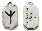 "Runestone Prophecy Pewter Pendant - ""Protection"" -  (PWR31)"