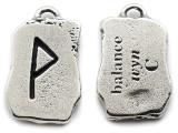 "Runestone Prophecy Pewter Pendant - ""Balance"" -  (PWR30)"