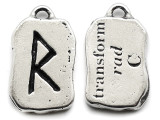 "Runestone Prophecy Pewter Pendant - ""Transform"" -  (PWR29)"