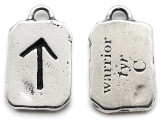 "Runestone Prophecy Pewter Pendant - ""Warrior"" -  (PWR33)"