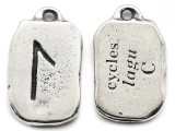 """Runestone Prophecy Pewter Pendant - """"Cycles"""" -  (PWR35)"""