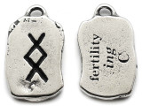 "Runestone Prophecy Pewter Pendant - ""Fertility"" -  (PWR36)"