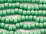 Crow Beads - Green Glass 9mm (CROW11)