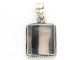 Sterling Silver & Purple Fluorite Pendant 22mm (AP1039)