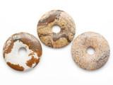 Picture Jasper Donut Pendant 35mm (AP1103)