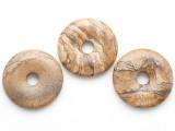 Picture Jasper Donut Pendant 40mm (AP1105)