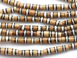 Mudbone w/Stripes Bone Beads 24mm (B9031)