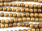 Robles Round Wood Beads 6mm - Philippines (WD843)