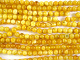 Genuine Amber Round Beads 5mm (AB14)