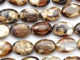 Tiger Fire Agate Oval Tabular Gemstone Beads 14mm (GS2735)
