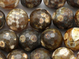 Tiger Fire Agate Faceted Round Gemstone Beads 15mm (GS2738)