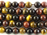 Mixed Tiger Eye Round Gemstone Beads 12mm (GS2744)
