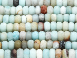 Black Gold Amazonite Faceted Rondelle Gemstone Beads 8mm (GS2751)