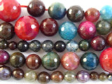 Multi-Color Graduated Round Agate Gemstone Beads 5-16mm (GS2759)