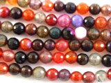 Multi-Color Faceted Agate Gemstone Beads 6mm (GS2760)