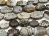 Ocean Jasper Irregular Oval Tabular Gemstone Beads 14-20mm (GS2772)