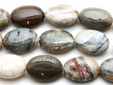 Ocean Jasper Oval Tabular Gemstone Beads 23mm (GS2773)