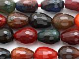 Multi-Color Agate Briolette Gemstone Beads 15mm (GS2774)