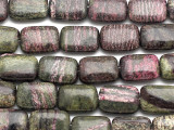 Purple Silver Line Jasper Rectangular Tabular Gemstone Beads 18mm (GS2806)