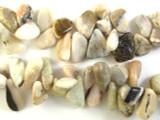 Pink Opal Petal Nugget Gemstone Beads 16-32mm (GS2820)