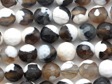 Fire Agate Faceted Round Gemstone Beads 7-8mm (GS2824)