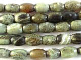 Green Fire Agate Barrel Gemstone Beads 14mm (GS2855)