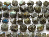Labradorite Faceted Graduated Gemstone Beads 9-18mm (GS2856)