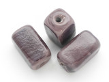 Purple Rectangular Glass Bead 24-26mm (AP1243)