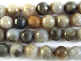 Fire Agate Faceted Round Gemstone Beads 16mm (GS2909)