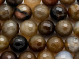 Agate Faceted Round Gemstone Beads 16mm (GS2911)