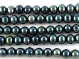 Teal Green Potato Pearl Beads 6mm (PRL121)