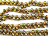 Bronze Metallic End-Drilled Pearl Beads 6mm (PRL104)