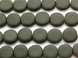 Army Green Round Tabular Resin Beads 20mm (RES445)