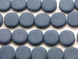 Blue Round Tabular Resin Beads 20mm (RES449)