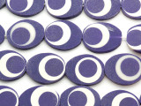 Purple & White Tabular Resin Beads 30mm (RES463)