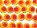 Yellow, Orange & Red Resin Beads 19mm (RES465)
