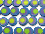 Blue, Purple & Green Resin Beads 19mm (RES518)