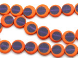 Orange & Purple Resin Beads 14mm (RES470)