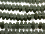 Army Green Sliced Resin Beads 20mm (RES476)