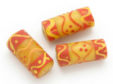 Yellow Glass Cylinder Bead 24-28mm (CB372)
