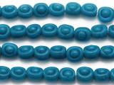 Teal Irregular Round Glass Beads 13mm (JV854)