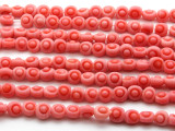 Light Pink Irregular Round Glass Beads 10mm (JV856)