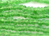 Green Tulip Recycled Glass Beads 7mm - Africa (RG544)